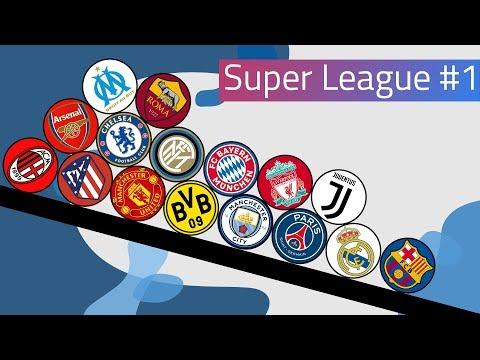 Clubballs Super League Marble Race #1 | UEFA 2019