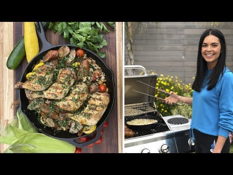 Katie Makes Grilled Farmer's Market Paella | Food Network