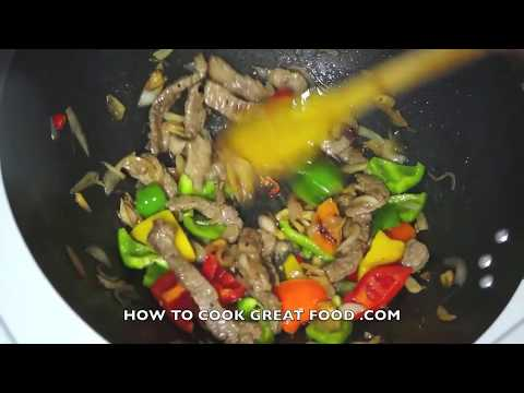 Beef & Sweet Pepper Stir Fry Recipe  - Wok Asian cooking