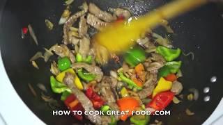 Beef & Sweet Pepper Stir Fry Recipe  - Wok Asian cooking