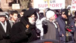 Coptic Christian Peace Procession Rally - Toronto, Ontario  CLIP 2  - Reverend Father