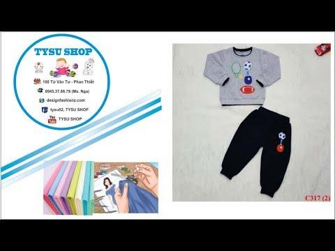 169-Thiết kế bộ thu đông cho bé |dạy cắt may online miễn phí | sewing online class free | tysu shop