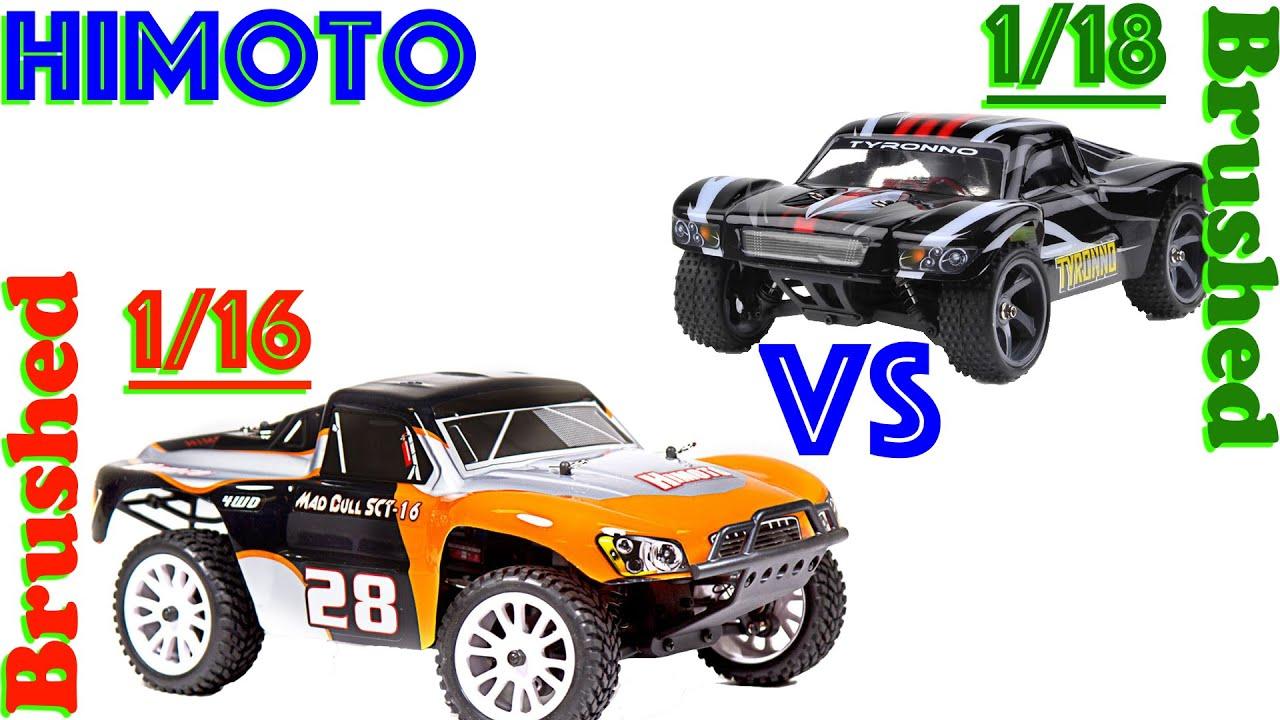 Himoto Tyronno 1 18 Brushed VS Himoto 1 16 Brushed Mad Bull SCT