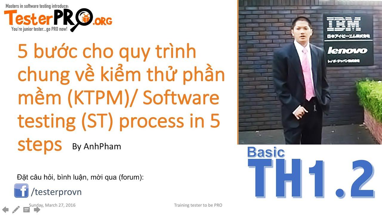 5 bước cho quy trình chung về kiểm thử phần mềm (KTPM)/ Software testing (ST) process in 5 steps