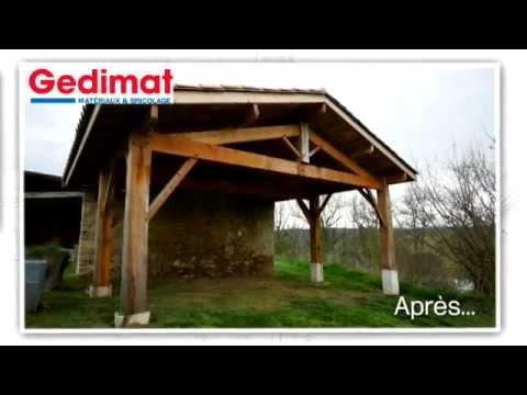 Un abri de voiture - Gedimat - Ma maison s\'agrandit, se rénove - YouTube