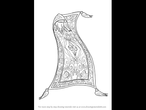 How to draw Magic Carpet from Aladdin - YouTube