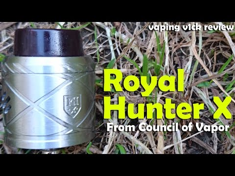 Royal Hunter X RDA & Coil Master Comp Wire - Review