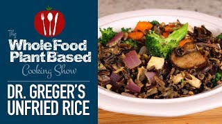 Dr.Greger's Plant Based Unfried Rice Recipe