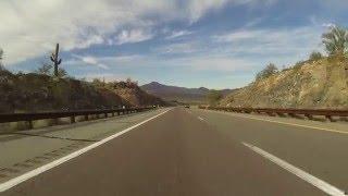 U.S. Route 93 South near Nothing & Bagdad, Arizona, Rear View, 19 December 2015, GP070040