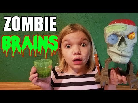 ZOMBIE BRAINS Make & EAT! Jillian & Addie's 13 Days of Halloween Treats! Babyteeth More!