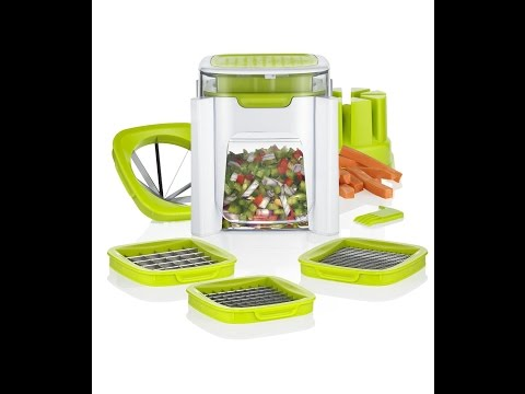 Review:  4 in 1 Vegetable Chopper, French fry cutter - Dice, Mince, Slice & Cube Fruits