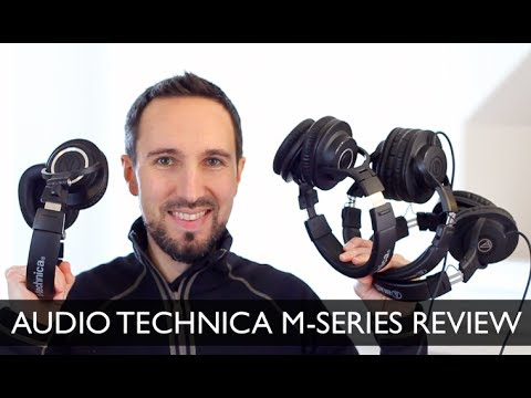 Audio Technica ATH M20X, M30X, M40X, M50X M-Series Group Review & Comparison