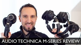 Audio Technica ATH M20X, M30X, M40X, M50X M-Series Group Review & Comparison