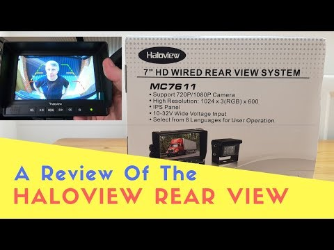 "A Review Of The Haloview 7"" HD Wired Rear View System 