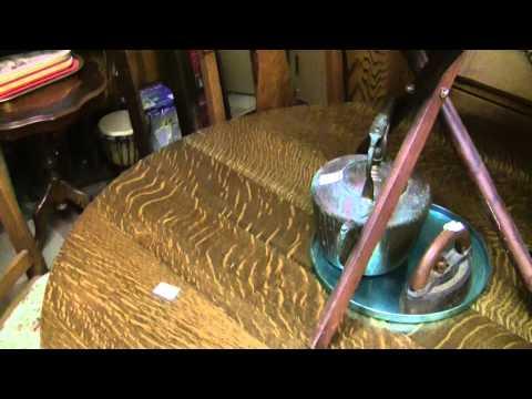 antique-solid-oak-dining-room-/-kitchen-set