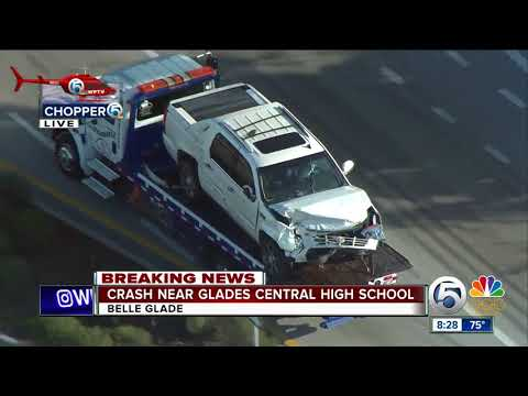 Two-vehicle crash near Glades Central High School
