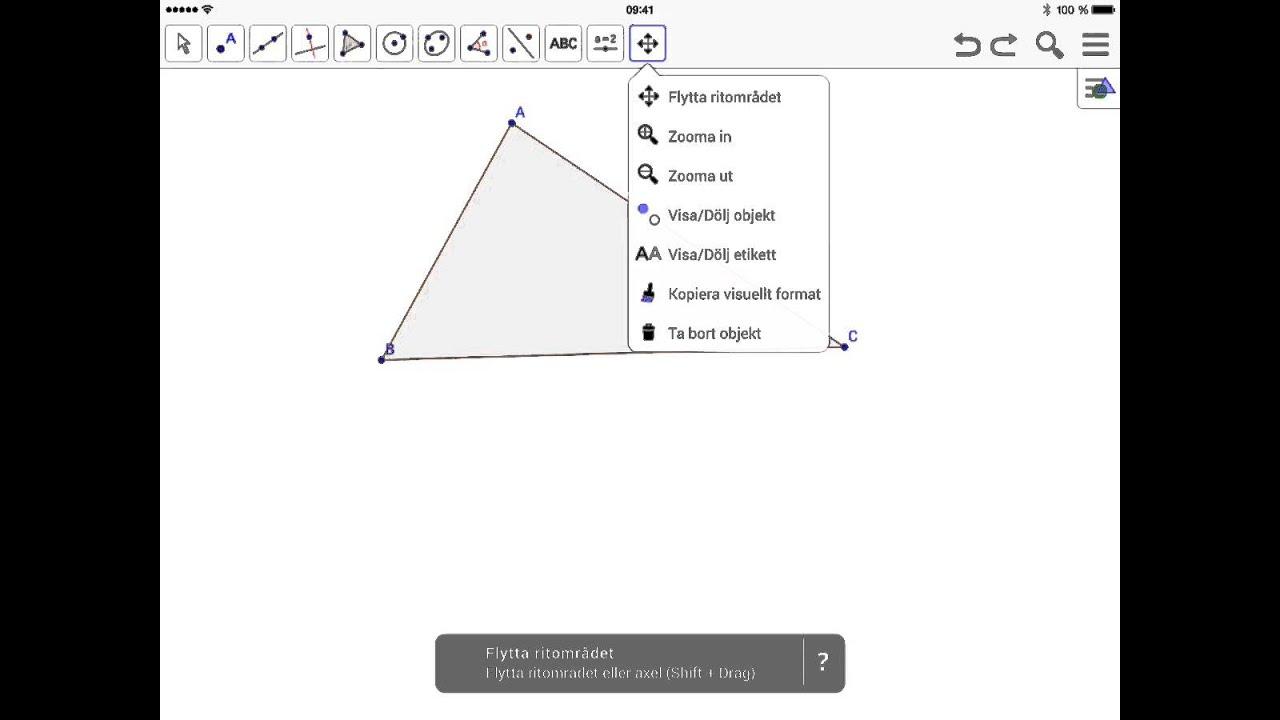 Geogebra iPad - vinklar