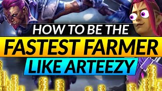 How to be THE FASTEST FARMING CARRY - ARTEEZY's BROKEN Farming Patterns on Anti Mage - Dota 2 Guide