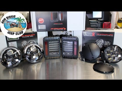 J.W. Speaker Headlights, Taillights and Auxiliary Light Install