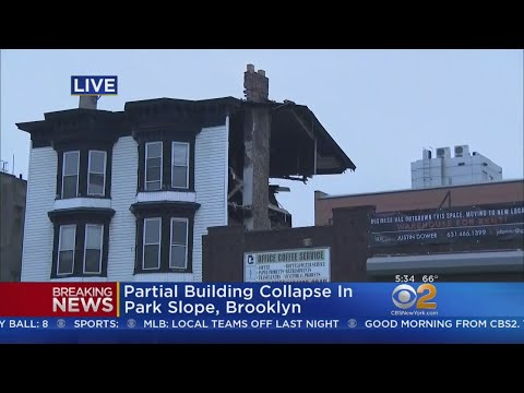 Partial Building Collapse In Park Slope, Brooklyn