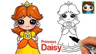 How to Draw Princess Daisy | Super Mario