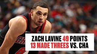 Zach LaVine Makes 13 3-Pointers, Drops 49 in Bulls Win vs. Hornets