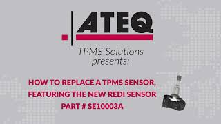 How to replace a TPMS sensor, featuring the REDI-Sensor