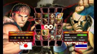 STREET FIGHTER 4 PC HIGH AND LOW MODEL DETAIL CPU VS CPU