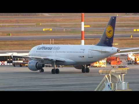 Lufthansa Italia Airbus A319-114 Taxiing to Stand at Malpensa Airport (LIMC), Milan