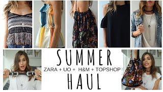 Summer 2016 Haul & TRY ON | Zara + Topshop + H&M + Urban Outfitters + Anthropologie + Forever 21
