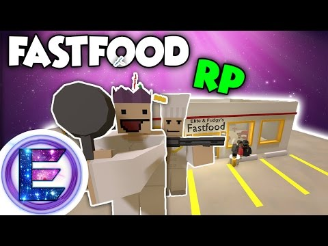 FAST FOOD RP - Working hard for that dollar ! - Unturned roleplay ( Funny Moments )