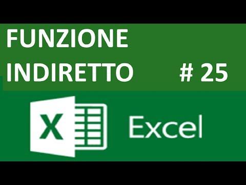 EP25 La funzione INDIRETTO di excel  e come lavorare con le stringhe di testo