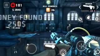 Dead trigger 2 type 92, minigun and chainsaw gameplay level 52
