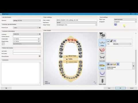 How to order  Maryland Bridge Design in 3Shape Dental System 2016