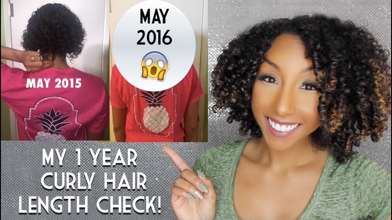 My 1 year curly hair length check natural hair growth my 1 year curly hair length check natural hair growth biancareneetoday youtube nvjuhfo Images