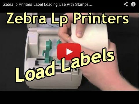 Zebra lp Printers Label Loading Use with Stamps.com, Ebay, Amazon