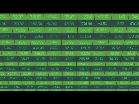 List of realtime quotes and prices data. Figures changing on stock market board. Stock Footage