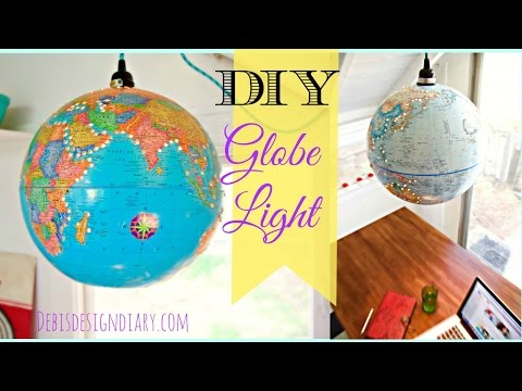 How to make a Lampshade Lantern from a Globe
