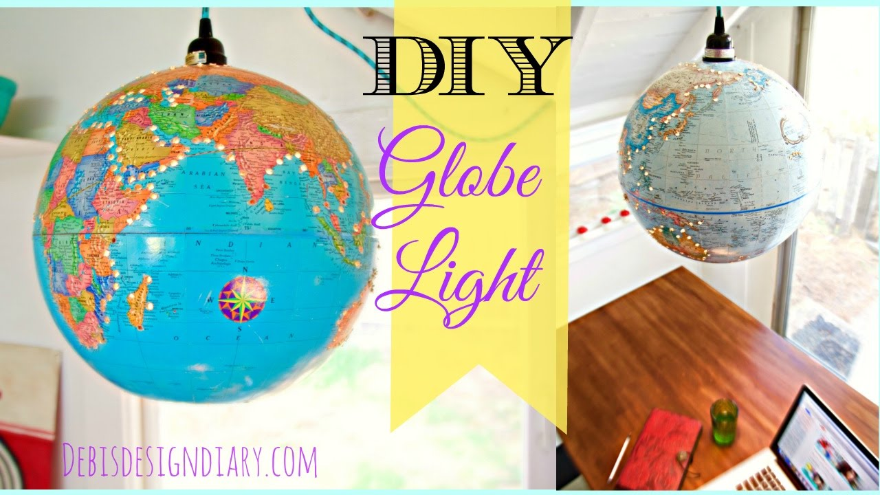 How To Make A Lampshade Lantern From A Globe Youtube