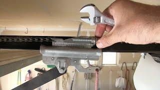 how to tighten a loose sagging chain garage door opener repair