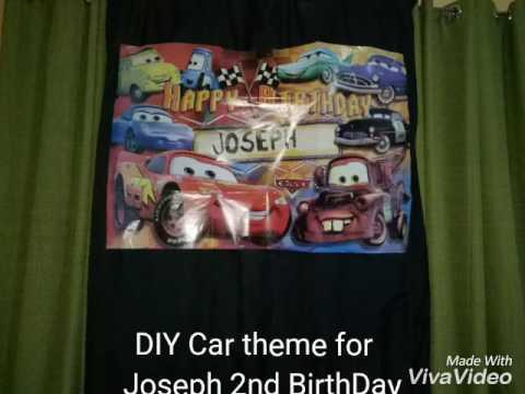 DIY Car Theme For Joseph 2nd Birthday