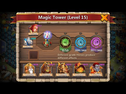 Consuming A Level 160 Legend For Ice Demon Magic Tower Castle Clash