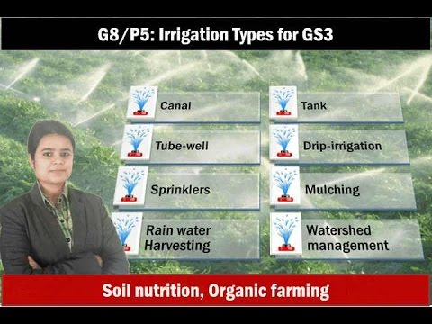 G8/P5: Irrigation types for GS3 & Fertilizers, Organic Farming