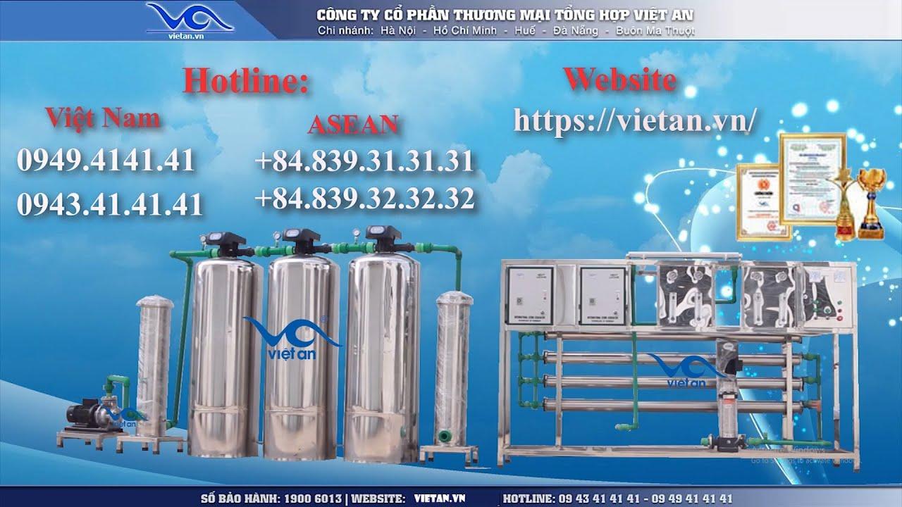 Dây chuyền lọc nước tinh khiết RO-VAIA mới nhất [Việt An 2019]