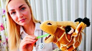 Видео для детей: доктор лечит жирафа