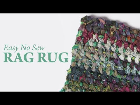 Easy No Sew Rag Rug You