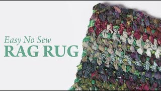 Easy No Sew Rag Rug