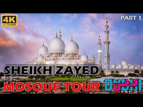 Sheikh Zayed Mosque Abu Dhabi   World's Beautiful Mosque   Part – 1   4K