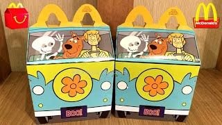 SCOOBY-DOO McDONALD'S HAPPY MEAL TOYS BOX REVIEW UNBOXING COLLECTION SET CANADA OCTOBER 2021