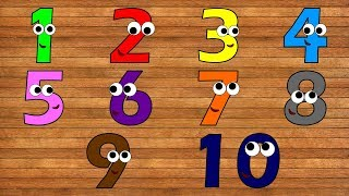 Learn Numbers from 1 to 10 with Wooden Toys Numbers for Kids Toddlers Children Learn Colors